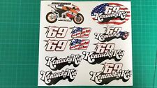 MOTO GP NICKY HAYDEN STICKER SHEET KENTUCKY KID MOTOGP  DECAL SET 69 150 MICRONS