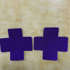 Sexy Adhesive Nipple Covers  Sticker Cross Shape - 1 Pair - PURPLE