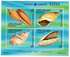 Uruguay stamps sea shells sheet 1995