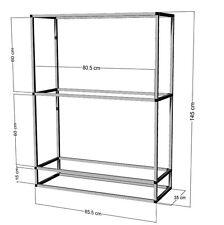 Scaffale di alluminio per 2 -3 x 80x35x40cm ACQUARI-terrari