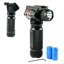 Tactical Vertical Foregrip LED Flashlight Red Laser Sight with 20mm Rail Mount