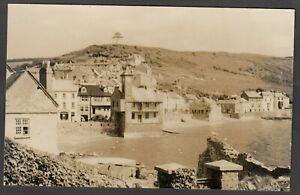 Postcard Kingsand nr Saltash Cornwall view of town RP