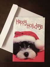 Paper Craft Dog Funny Puppy Christmas Cards- Box of 12 w/envelopes Brand New