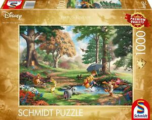 Thomas Kinkade Disney Winnie The Pooh 1000 Piece Jigsaw Puzzle