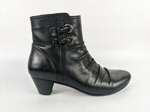 Pavers Black Leather Ankle Boots Uk 6 Eu 39