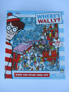 WHERE'S WALLY? 48 PIECE PUZZLE *WHEN THE STARS COME OUT* PUZZLE SIZE 26cm x 23cm