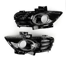 2Pcs Front LH/RH Side Fog Lamp Light Bezel For Ford Fusion/Mondeo 2013-2016 UE