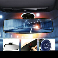 Universal Car Truck Van Wide Flat Interior Rear View Mirror Adjustable Suction