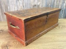 Antique Cobblers Chest Tool Box Loaded With Shoe Tools Materials Hardware K5
