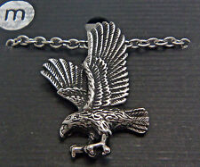 "Stainless Steel Pendent Eagle 18"" Chain Necklace Wheeler STP 289"