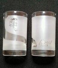 MOZART Distilleries Chocolate Liqueur tall frosted shot glass set of 2