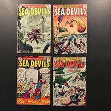 Sea Devils # 10, 13, 19, 25  (1963, 64, 65) Lot of 4 comics