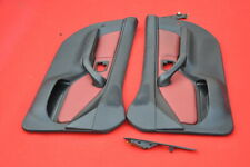 BMW Z3 Roadster Coupe Interior Door Panel Trim Pair RED Leather  LH RH