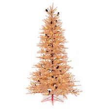 Albero di Natale rosa antico 230 cm pigne 400 luci led