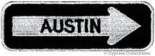ONE-WAY SIGN PATCH - AUSTIN TEXAS EMBROIDERED iron-on TRAVEL EMBLEM APPLIQUE