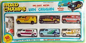 Road Champs 1970s Custom van set Mint perfect very nice,