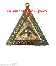 Scottish Rite Officers Jewel Senior Warden Golden Memphis Misraim Rite Masonry