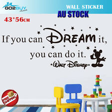 Wall Stickers Removable If Dream It Disney Living Study Room Decal Picture Art