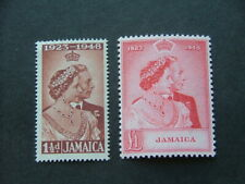 Jamaica KGVI 1948 Royal Silver Wedding Issue SG143-144 UM/MNH