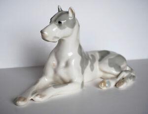 Lomonosov PORCELAIN Figurine DOG GREAT DANE WHITE