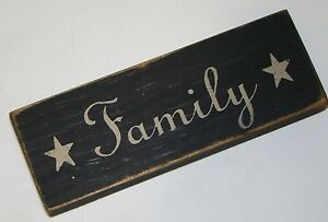 """""""FAMILY""""  Rustic Primitive Country Farmhouse Wood message block/sign home décor"""