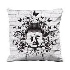 Buddha Butterfly Faux Silk 45cm x 45cm Sofa Cushion - Buddhist Buddhism