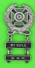 Army Expert Marksmanship Badge M1 RIFLE & B.A.R. Qualification Bars   M-1 Garand