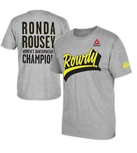 NEW REEBOK CROSSFIT UFC ROWDY RONDA ROUSEY CHAMPION T-SHIRT ADULT MEDIUM TEE