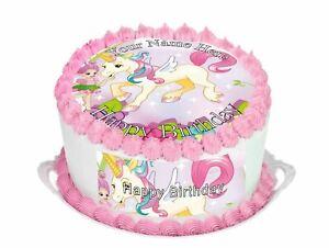 Cake Topper Birthday Unicorn personalised Rice paper,Icing fondant Sheets 76