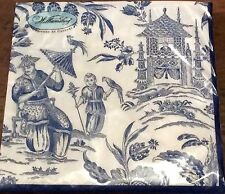 Blue Oriental Willow 20 Paper Napkins Serviettes
