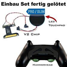 Controladora ps4 remapper soldadura con estaño, v2 chip + martillo negro paddles y tornillos