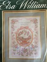 ELSA WILLIAMS COUNTED CROSS STITCH KIT, THE BEADED MARRIAGE SAMPLER #02076