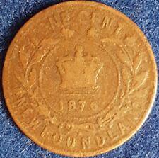 1876 H Newfoundland Penny  ID #86-62