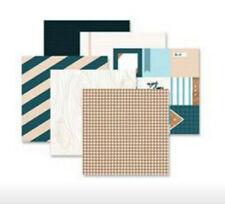 Rare NLA Creative Memories Outdoor Blues Designer Paper Pack 12x12 True 12/pc
