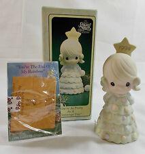Precious Moments 1994 Porcelain Bell Pretty as a Christmas Tree #604216 Mib