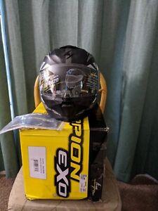 Scorpion Exo-R420 Distiller Helmet Black/Silver Size Large 59-60 CM DOT Snell