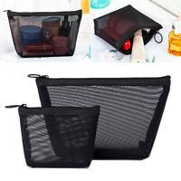 Women Girls Cosmetic Mesh Bag Travel Makeup Case Pouch Toiletry Organizer Bag