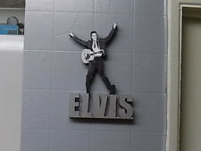ELVIS PRESLEY ( YOUNG ) HAND MADE WOODEN ORNAMENTAL FIGURE (OTHERS ON REQUEST)