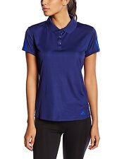 New Adidas Response Tennis Polo Shirt Top T-Shirt - Blue - Ladies Womens Girls