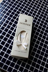 Brand New In Box Isotoner Slippers Classic Terry Ballerina Porclain 8-9 White <3