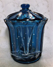 Fenton Art Glass Indigo Box, Silver Birch Winter Scene, NIB, Hand Painted