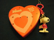 Whiltman Chocolate Empty Heart Shaped Plastic box with Cool Joe, Snoopy Keychain