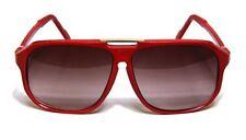 Square Aviator Sunglasses Flat Top Retro Oversized Red Men Women