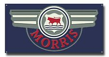 "MORRIS MOTORS COLLECTABLE METAL SIGN,MORRIS CARS GARAGE SIGN,16"" X 8""."