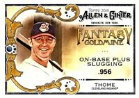 2018 Topps Allen&Ginter Fantasy Goldmine Card#FG-40~Jim Thome-Cleveland Indians!