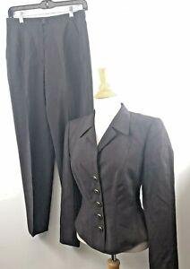 Escada Margaretha Ley Women's Ladies Size 38 Brown Line Pants Suit E07-12