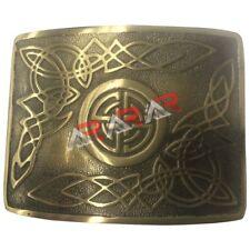 Scottish & Highland Kilt Belt Buckle Celtic Design High Quality Antique Finish