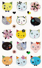 Mrs. Grossman's Turnowsky Stickers - Cats Frilly Faces - Kittens Cat - 2 Strips