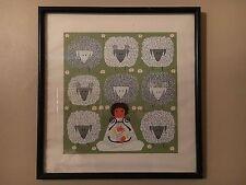 """Vintage Edie Harper Signed & Framed Print - Little David - 17"""" x 16"""" 510/750"""