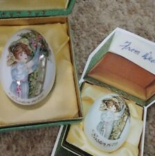Royal Bayreuth Porcelain Easter Egg 1976 Made in Germany with Box Rare Excellent